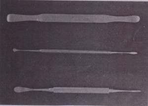 Periosteal elevators such as Woodson and no. 9 Molt are useful to retract flaps. Seldin retractor (top) is broader instrument that provides broader retraction and increased visualization