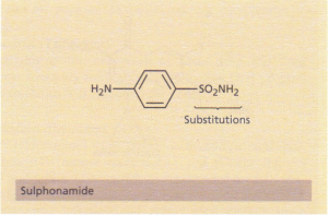 The structure of a sulphonamide.