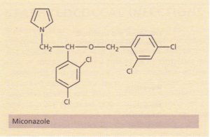 The structure of miconazole, an imidazole