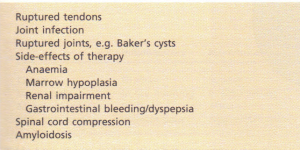 Clinical and laboratory features of spondylarthropathies.