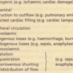 Acute disturbances of haemodynamic function (shock)