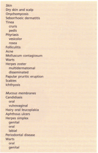 Mucocutaneous manifestations of HIV infection.